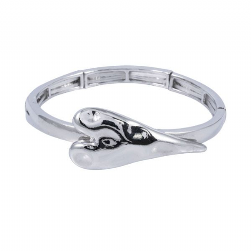 Heart Feature Elasticated Bangle